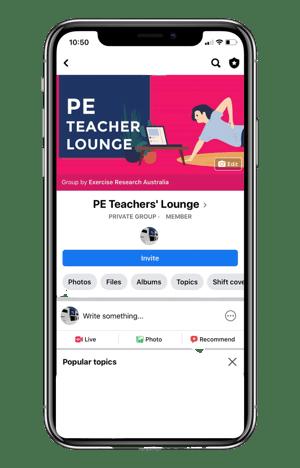 PE Teacher Lunge Phone